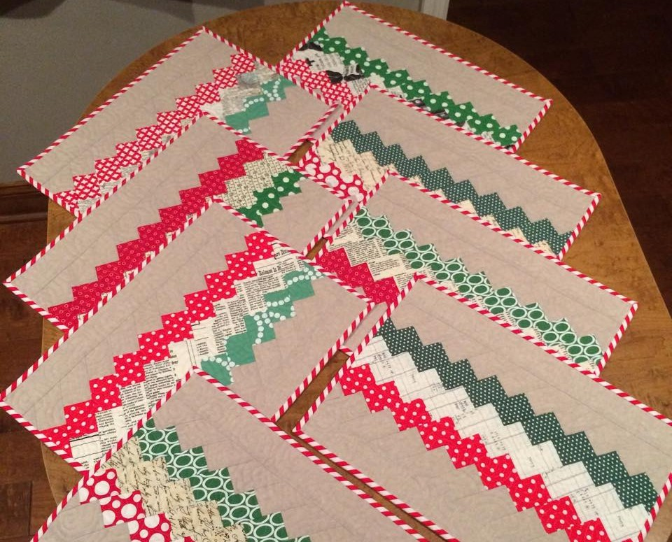 Holiday Placemats, finished!