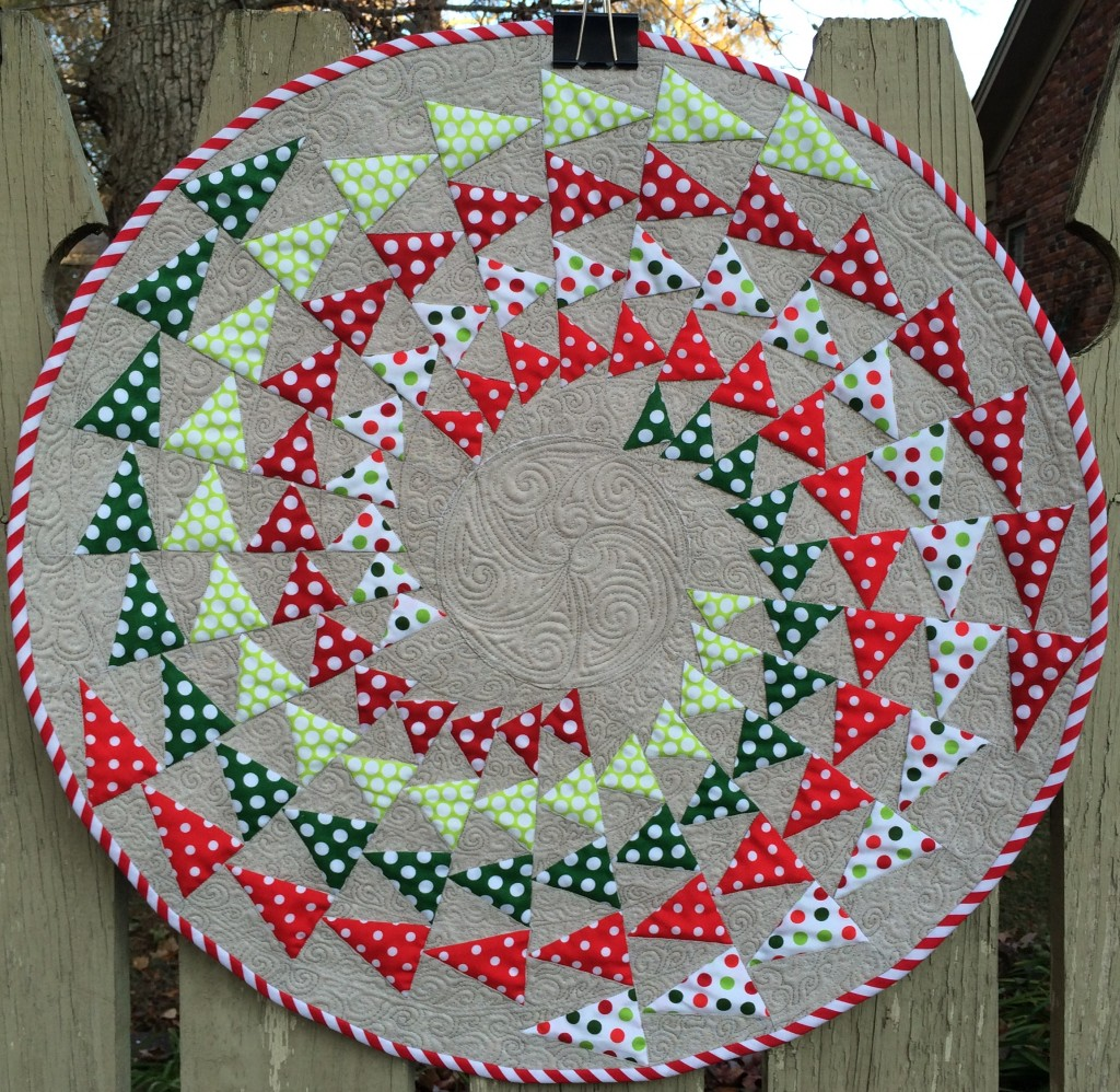 25-sided polygon (icosakaipentagon!) Holiday Table Topper