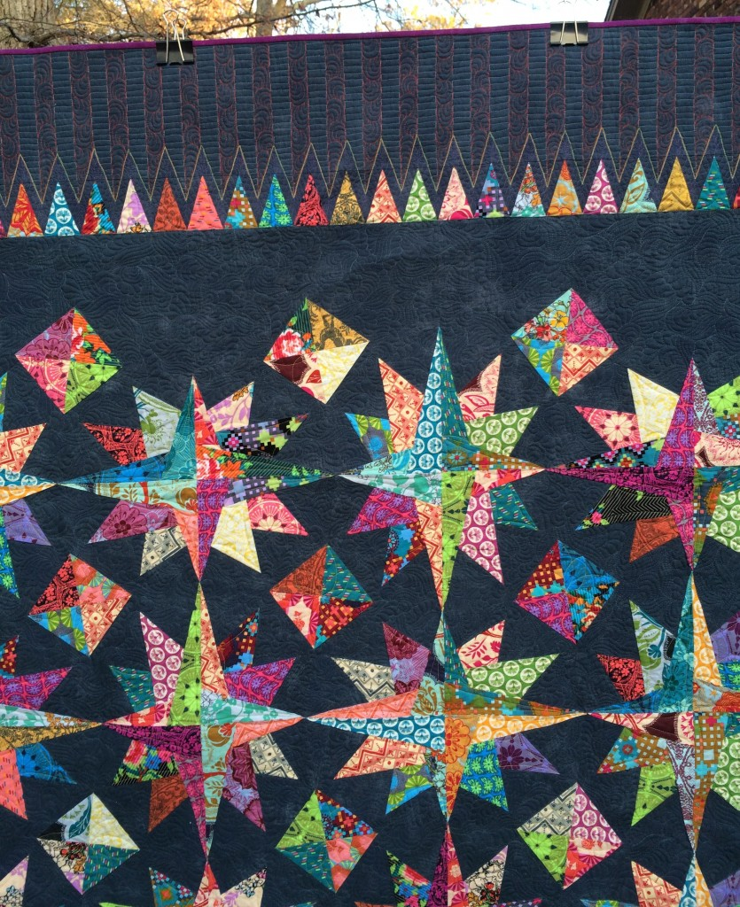 Big Bang Border Quilting