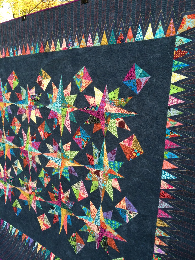 Big Bang Quilting Closeup